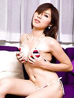 Creamy white post op Ladyboy Candy in her bikini