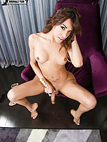 Sabrina Lopez is a sexy tall Grooby girl with a stunning body, big tits, a bih juicy ass and a hard uncut cock! See this sexy tgirl jacking her hard cock for you!